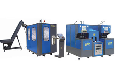 China Blue Plastic Water Bottle Making Machine , PET Blow Molding Equipment Easy Operate factory